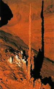 Toothpick stalagmite